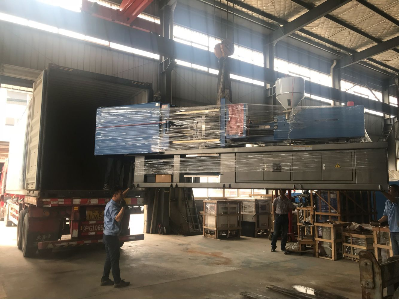 a batch of injection molding machines were exported to Kenya