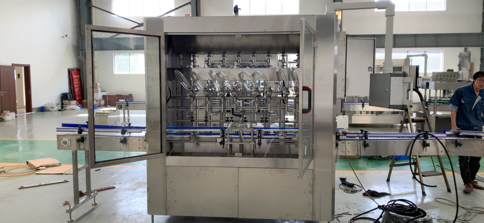 【2020 July 15】Customized linear type yogurt filling machine sent to Nigeria