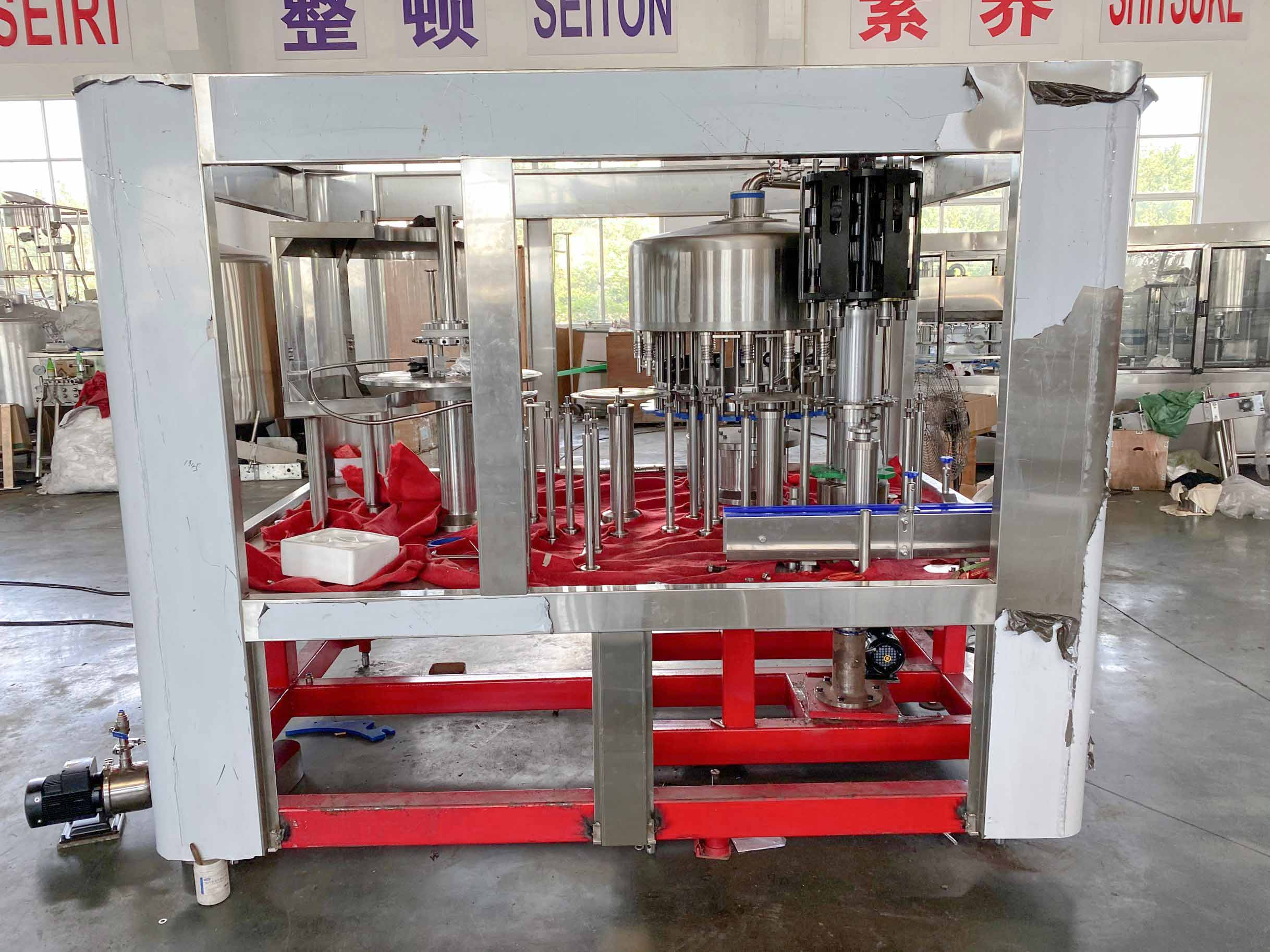 【2020 August 19】The production of the latest filling machine is about to be completed